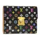 ルイヴィトン M58015 モノグラムマルチカラー コアラ 新型二つ折り財布 ブラック