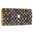 ルイヴィトン M60005 モノグラムマルチカラー新型長財布 ブラック