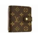 ルイヴィトン M61667 モノグラム コンパクトジップ 二つ折り財布