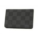 ルイヴィトン LOUIS VUITTON ダミエ グラフィット オーガナイザー ドゥ ポッシュ カードケース グレー N63075
