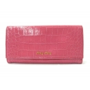 ミュウミュウ 財布 クロコ型押し 二つ折り長財布 5M1109 ST.COCCO.LUX