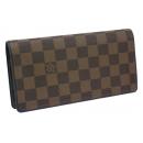 ルイヴィトン 財布サイフさいふ ダミエ コレクション 長財布 ポルトフォイユブラザ N63153