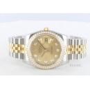 ロレックス Ref.116243 デイトジャスト YGコンビ ダイヤモンド 5連ブレス ゴールド メンズ