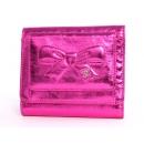 シャネル リボン&ココマーク 三つ折財布 メタリックピンク A46895
