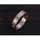 グッチ GUCCI ダイヤモンド GGアイコン リング【指輪】 ピンクゴールド 152046
