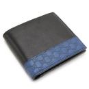 グッチ 二つ折財布/メンズミストラルGG柄ロゴトリム レザー ブラック×ブルーサファイア 256418 AYL5N 1086