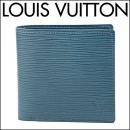 ルイヴィトン 2つ折り財布 M60613 財布 エピ EPI マルコ メンズ BLUE CELESTE(ブルーセレスト) ブルー 青