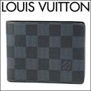 ルイヴィトン 2つ折り財布 N62239 ダミエ DAMIER スレンダー ユニセックス ネイビー 紺 札入れ メンズ
