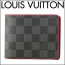 ルイヴィトン 2つ折り財布 N63260 財布 ダミエ DAMIER ポルトフォイユミュルティプル メンズ