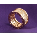 ブルガリ ビーゼロワン パヴェダイヤ リング(指輪) ピンクゴールド AN855553
