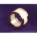 ブルガリ ビーゼロワン リング(指輪) ホワイトセラミック&ピンクゴールド(4バンド) AN855564