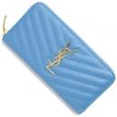 サンローランパリ 財布 モノグラム YSL ブルークレール 358094 BOW01 4317 レディース