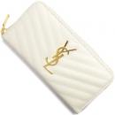 サンローランパリ 財布 モノグラム YSL ポルケッラナホワイト 358094 BOW01 9008 レディース