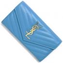 サンローランパリ 財布 モノグラム YSL ブルークレール 372264 BOW01 4317 レディース