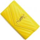 サンローランパリ 財布 モノグラム YSL ニュージョーヌイエロー 372264 BOW01 7120 レディース