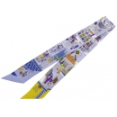 エルメス スカーフ ツイリー シルクツイル メゾン デ カレ La Maison des Carres HERMES シルクスカーフ ライトブルー×ブルー×イエロー