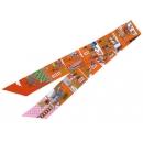 エルメス スカーフ ツイリー シルクツイル メゾン デ カレ La Maison des Carres HERMES シルクスカーフ オレンジ×カプシーヌ×ピンク