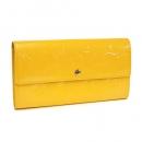LOUIS VUITTON 2つ折り長財布(モノグラムヴェルニ ジョーヌパッション イエロー)M91740
