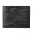 ルイヴィトン 2つ折り財布 M60662 エピ EPI ポルトフォイユ ミュルティプル メンズ NOIR(ノワール) ブラック 黒