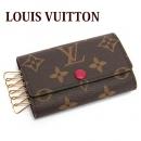 ルイヴィトン  LOUIS VUITTON キーケース メンズ レディース モノグラム ミュルティクレ6 フューシャ M60701
