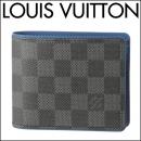 ルイヴィトン 2つ折り財布 N63268 ダミエ グラフィット DAMIER GRAPHITE ポルトフォイユ ミュルティプル メンズ