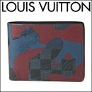 ルイヴィトン 2つ折り財布 N63289 ダミエコバルト DAMIER COBALT ポルトフォイユ ミュルティプル メンズ