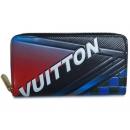 ルイヴィトン M62267 ラウンドジップ長財布 エピ レース ジッピーウォレット ブルー/フューシャ