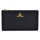 プラダ PRADA サフィアーノレザー 二つ折り財布 ブラック 1ML009 QWA 002