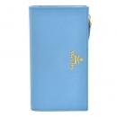 プラダ PRADA サフィアーノ 二つ折り財布 ブルー 1ML009 QWA P9S