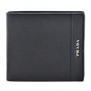 プラダ PRADA サフィアーノレザー 型押しカーフスキン メンズ 二つ折り財布 ブラック 2MO738 2EGM 002