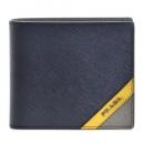 プラダ PRADA 型押しカーフスキン サフィアーノ レディース 二つ折り財布 レッド 1ML005 QWA 011