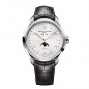 ボーム&メルシエ  腕時計 クリフトン MOA10055 コンプリートカレンダー シルバー×ブラックレザーベルト