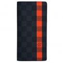 ルイヴィトン N63306 財布 メンズ ファスナー長札 ダミエ グラフィット ポルトフォイユ ブラザ Comet オレンジ