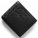ボッテガヴェネタ 二つ折財布 イントレチャート ブラック 193642 VCEP1 1000 メンズ