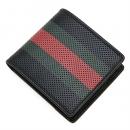 グッチ GUCCI 2つ折り財布 WEBBING ウェビング ブラック/レッド/グリーン 352261 BUZ3T 1073