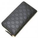 グッチ GUCCI ラウンドファスナー長財布(小銭入れ付き) Gucci Signature Zip Around Wallet Black ブラック 410102 CWC1G 1000