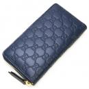 グッチ GUCCI ラウンドファスナー長財布(小銭入れ付き) Gucci Signature Zip Around Wallet Dark Blue ダークブルー 410102 CWC1G 4157