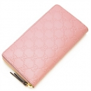 グッチ GUCCI ラウンドファスナー長財布(小銭入れ付き) Gucci Signature Zip Around Wallet Pink ピンク 410102 CWC1G 5812