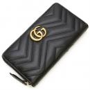 グッチ GUCCI ラウンドファスナー長財布(小銭入れ付き) GG Marmont Zip Around Wallet Black ブラック 443123 DRW1T 1000
