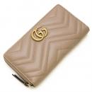 ラウンドファスナー長財布(小銭入れ付き) GG Marmont Zip Around Wallet Nude ヌードベージュ 443123 DRW1T 5729