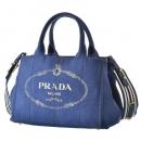 PRADA トートバッグ カナパ canapa ハンドバッグ 2WAYハンドバッグ ブルー系 1BG439ROO