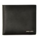 プラダ PRADA メンズ 財布 サフィアーノ saffiano メンズ 二つ折り財布 ブラック 2MO738 C5S D9A