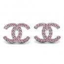 シャネル ピアス A96822 PINK/GM CHANEL CCココマーク ラインストーン ピンク