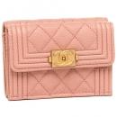 シャネル 折財布 レディース CHANEL A84432 Y83406 4B476 ピンク