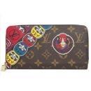 ルイヴィトン M67249 モノグラム ジッピーウォレット カブキスタンプ ラウンドファスナー財布