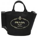 PRADA レディース 2WAYハンド/ショルダーバッグ SHOPPING BAG MEDIUM ブラック 黒 1BG163 ZKI F0002 NERO