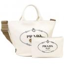 プラダ トートバッグ レディース PRADA 1BG163 ZKI F0009 ホワイト