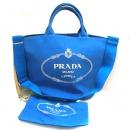 プラダ CANAPA カナパ 2wayバッグ ハンドバッグ ショルダーバッグ レディース ブルー