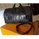 ルイヴィトン シュプリーム M53433 17aw Supreme Louis Vuitton KEEP.45 BA.SP EPI DWT