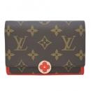 ルイヴィトン M64587 モノグラム ミディアム財布 小銭入れ付き ポルトフォイユ フロール コンパクト コクリコ